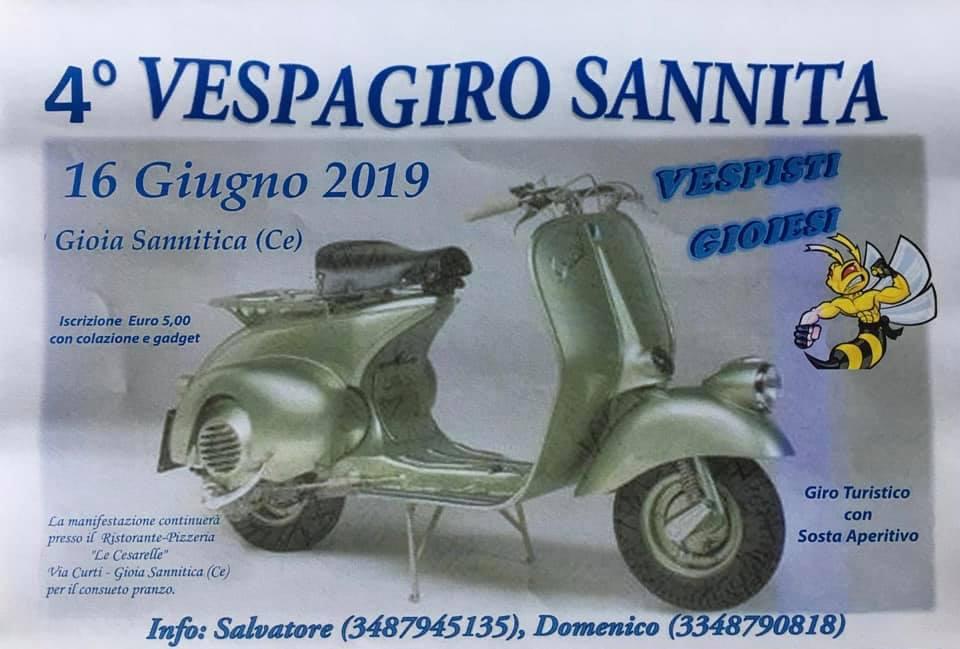 Gioia Sannitica: grande appuntamento su due ruote con la quarta edizione del Vespagiro Gioiese.