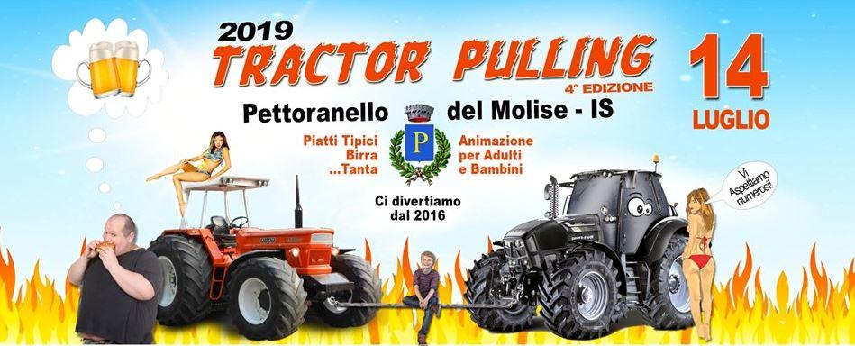 Pettoranello del Molise: divertimento ed emozioni per l'edizione 2019 del Tractor Pulling. Il 14 luglio evento da non perdere.