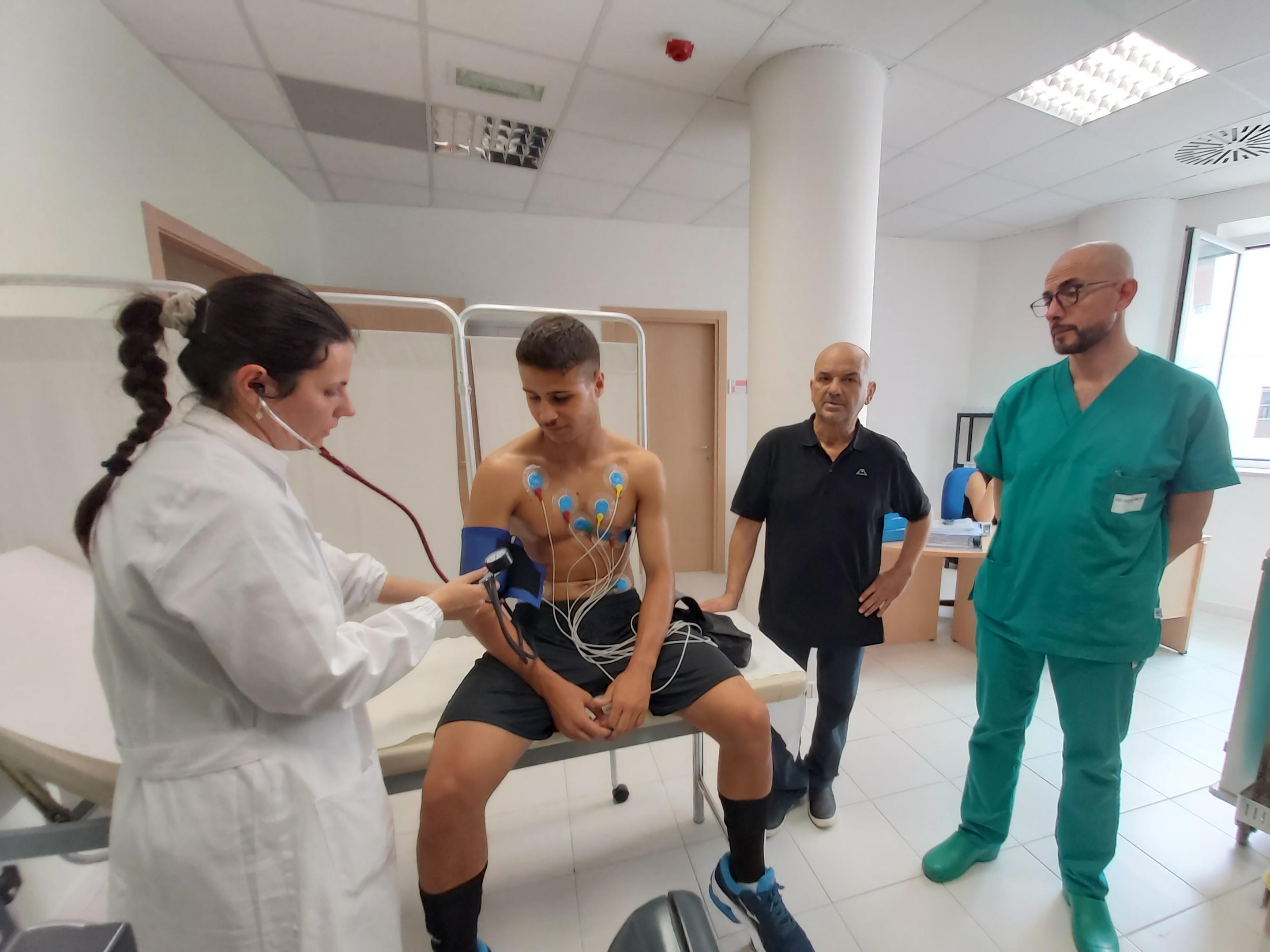 Il Benevento Calcio al Centro di medicina dello sport e dell'esercizio fisico  Asrem-Unimol diretto dal professor Guerra.