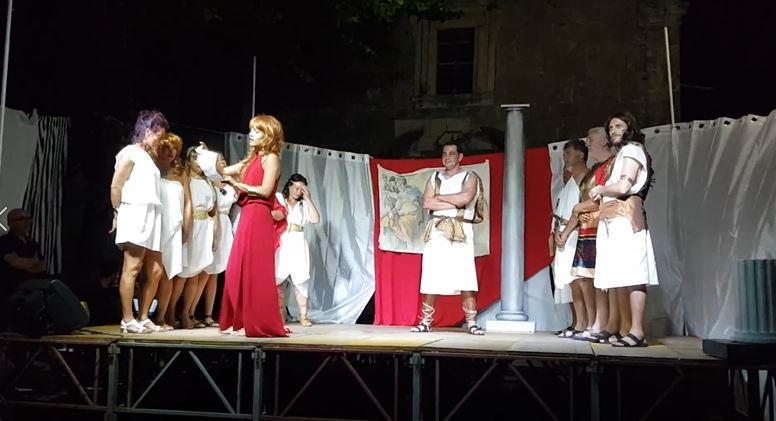 """Rocchetta a Volturno: sabato sera in scena la commedia teatrale """"La Guerra del Peloponneso""""."""