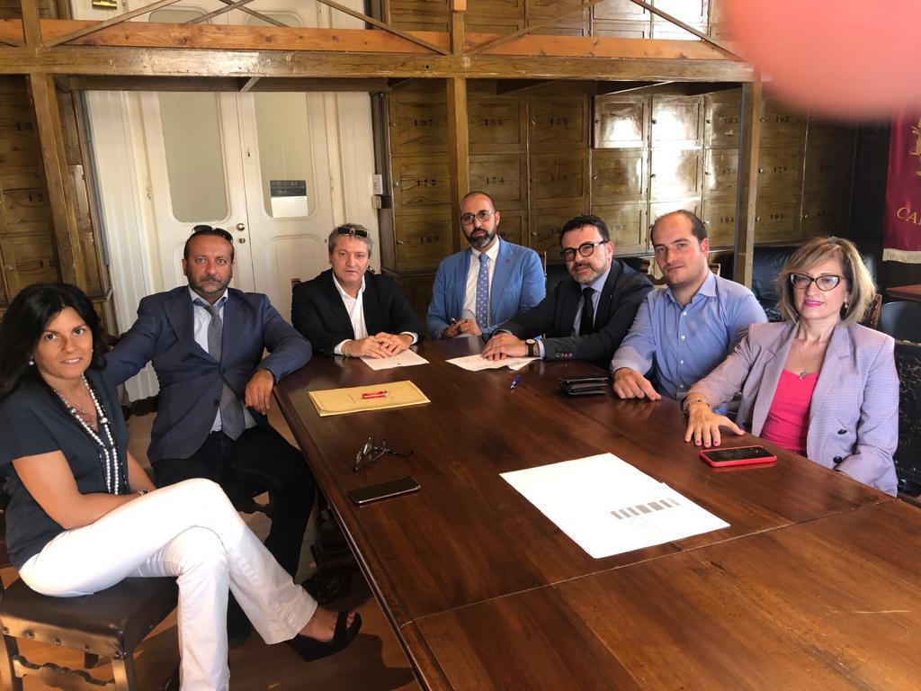 I Consiglieri comunali di centrodestra al comune di Campobasso programmano il futuro con il presidente della Provincia Roberti.