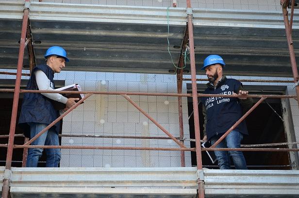 Isernia:  Controlli dei Carabinieri sui luoghi di lavoro. A Venafro sanzionato imprenditore edile
